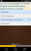 Screenshot of Canadian Citizenship Test