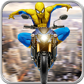 Spider Traffic Rider - Superhero Bike Racing 2018
