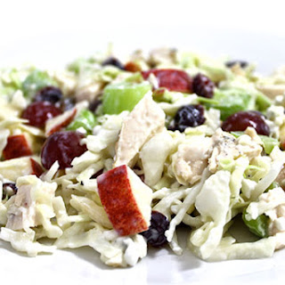Skinny Chicken and Blue Cheese Slaw Salad