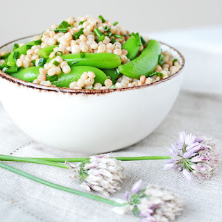 Israeli Couscous and Sugar Snap Pea Salad