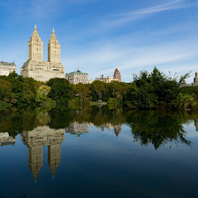 Central Park by VAM Photography - City,  Street & Park  Skylines ( reflection, nature, lake, architecture, landscape )