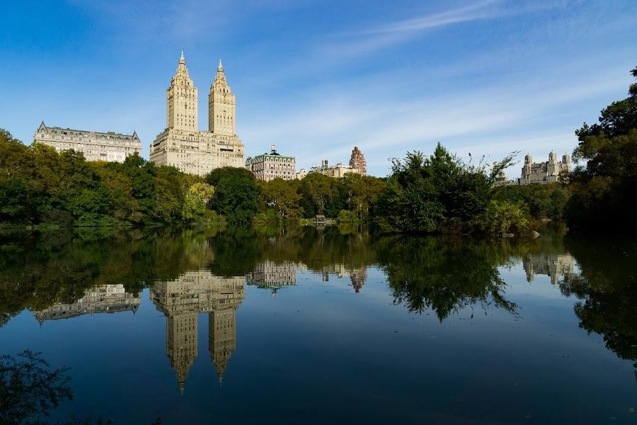 Central Park by VAM Photography - City,  Street & Park  Skylines ( reflection, nature, lake, architecture, landscape )