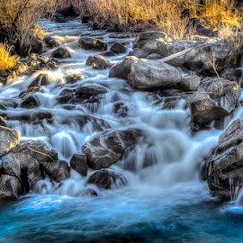 Idaho Falls by Brent Lindsay - Landscapes Waterscapes ( water, falls, rocks, river )