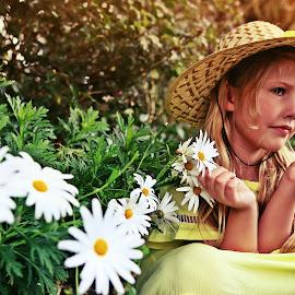 Danielle by Jomy Jose - Babies & Children Child Portraits ( girl, danielle, .portrait, sun, flower )