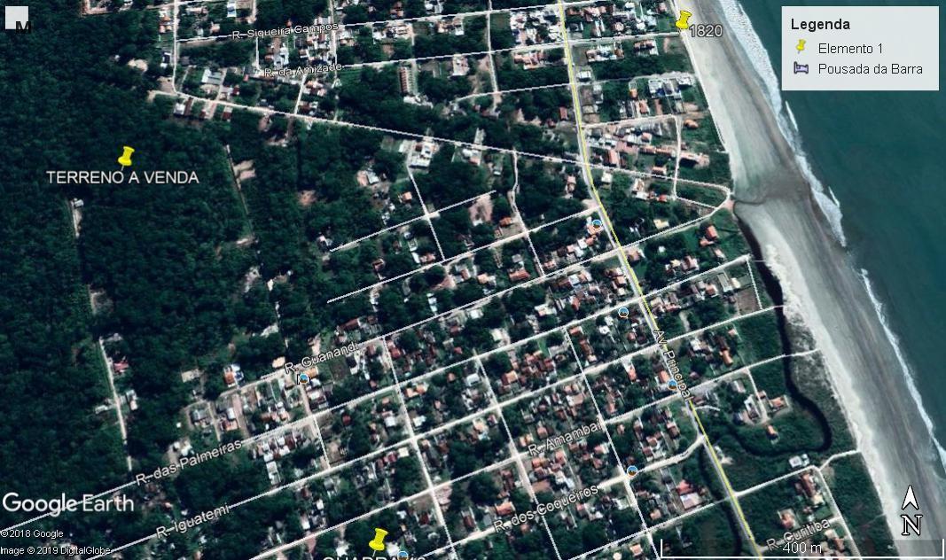 Terreno à venda, 384 m² por R$ 23.500 - Praia Das Palmeiras - Itapoá/SC
