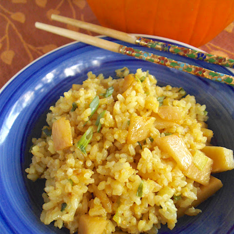 Pumpkin Fried Rice with Ginger
