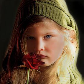 Antonija & Rose by Ivana Miletic - Babies & Children Child Portraits ( rose, girl, sea, blue eyes, ivana miletic, portrait )