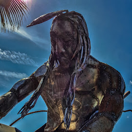 The Iron Brave by Tom Anderson - Buildings & Architecture Statues & Monuments ( brave, sculpture, statue, american indian, gila bend, arizona, indian, native american )