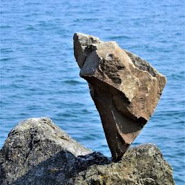 Rock balancing by Carol Leynard - Nature Up Close Rock & Stone ( rocks, balance, stones )