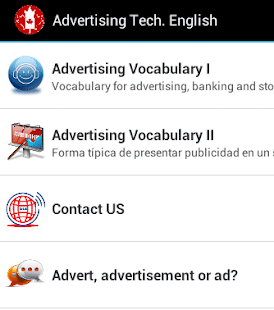 Advertising Tech. English - screenshot
