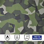 Cotton Polyester 50/50 Camouflage Fire Resistant Fabric