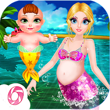 Mermaid Driping Nursing-Baby