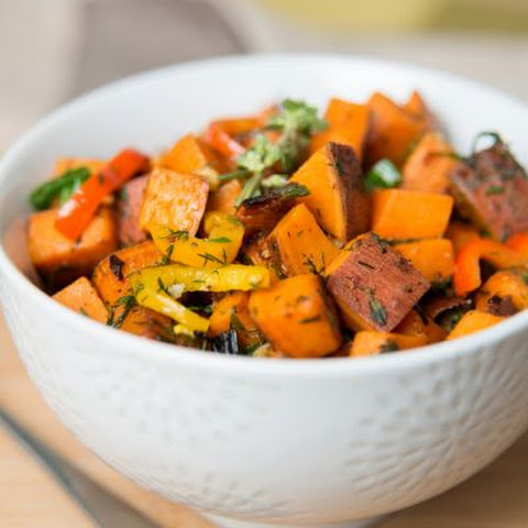 Crockpot Sweet Potatoes & Polish Sausage