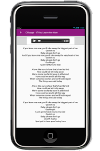 Chicago Complete Song Lyrics - screenshot