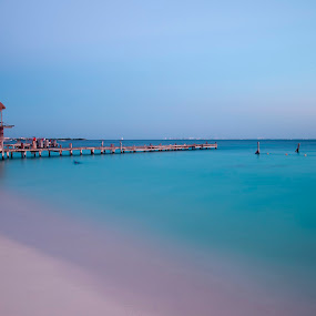 Midnight Waterscape shot by Cristobal Garciaferro Rubio - Landscapes Beaches ( cancun, water, shore, mexico, sea, long exposure, isla mujeres )
