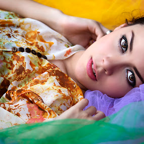 colourful Stefvanie by Ivan Lee - People Portraits of Women ( colour, canon, model, girl, beauty,  )