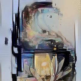 flower light by Josiah Hill-meyer - Digital Art Abstract