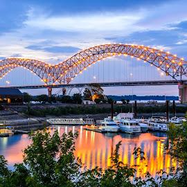 Memphis Bridge by Joe Machuta - Buildings & Architecture Bridges & Suspended Structures