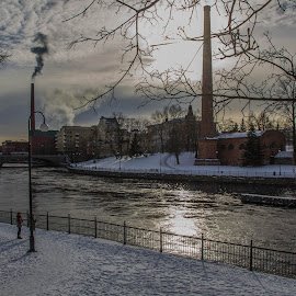 Sunny winter day in Tampere, Finland by Sakari Partio - City,  Street & Park  City Parks