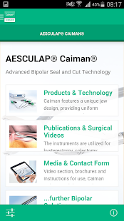 AESCULAP® Caiman® - screenshot