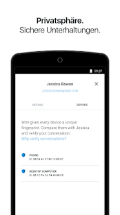 Wire - Sicherer Messenger Screenshot