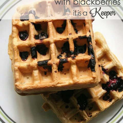 Vanilla Waffles with Blackberries