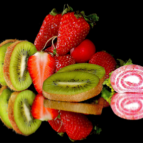 fruits and candy by LADOCKi Elvira - Food & Drink Fruits & Vegetables ( candys, fruits )