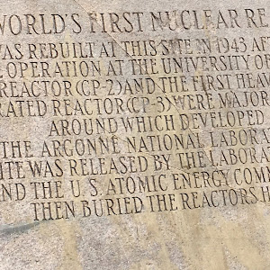 The World's First Nuclear Reactor was rebuilt at this site in 1943 after initial operation The University of Chicago.This reactor (CP-2) and the first heavy water moderated reactor (CP-3) were major ...