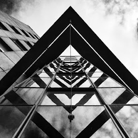 Upwards by Henrik Spranz - Instagram & Mobile iPhone ( b&w, lines, square, architecture, black&white )