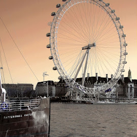 Wheel of Fortune by Gianni Frasca - City,  Street & Park  Skylines ( london eye, london, boats, wheels, skylines, river, city,  )