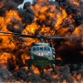 The Wall of Fire by Ron Malec - Transportation Airplanes