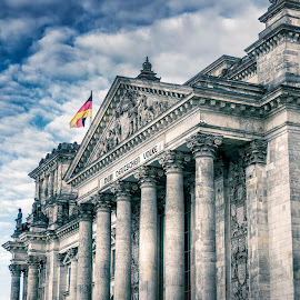 Dem Deutschen Volke by Marc Sharp - Buildings & Architecture Public & Historical ( autumn, colorful, cityscape, berlin, city )