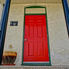 Welcome by Barbara Brock - Buildings & Architecture Other Exteriors ( red door, red, bright door )