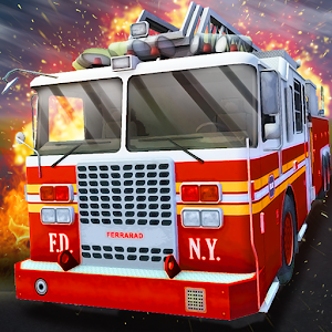 Cover art Fire Truck Simulator 2016
