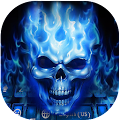 Flaming Skull Keyboard Theme APK for Bluestacks