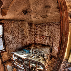 Honey, where's the clean sheets....? by Bruce Martin - Buildings & Architecture Homes ( home, urban decay, abandoned  homes )