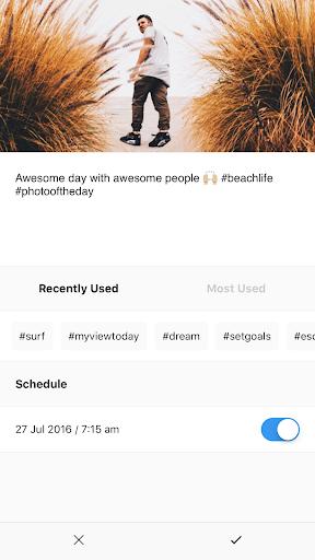 Preview - Instagram schedule - screenshot