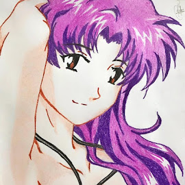 Captain Misato Katsuragi by Israel  Padolina - Drawing All Drawing ( evangelion, cartoon, sexy, misato katsuragi, anime )