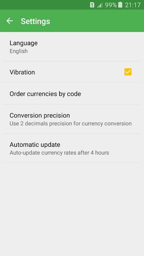 Currency Converter Calculator Screenshot 4