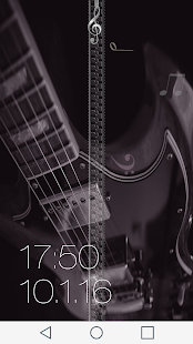 Music Zipper Lock Screen - screenshot