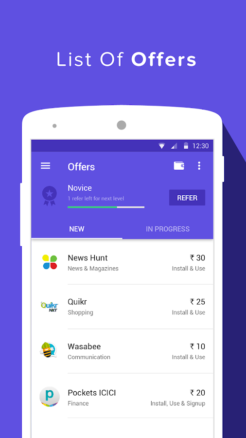 Grappr - Earn Talktime Rs.300 Screenshot 1