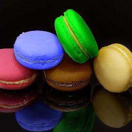 Macarons by Sam Song - Food & Drink Fruits & Vegetables ( coloring, desert, sweet, french )