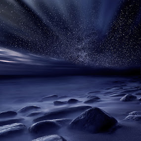 Moonlight by Jorge Maia - Landscapes Starscapes ( stars, mood, night, waterscapes )