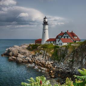 Portland Head Light by Ann J. Sagel - Buildings & Architecture Public & Historical ( maine, lighthouse, ann sagel,  )