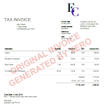 Data Protection Xero Invoice