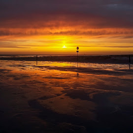 Sunset Fanø by Froddy Baun - Instagram & Mobile Android ( mobilography, samsung s2, fanø, sunset, mobile )