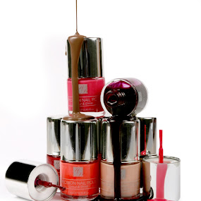 Messy Nail Varnish by Martin Burnett - Products & Objects Business Objects ( drip, nail, nail polish, varnish, nail varnish, cosmetics, paint, beauty, mess, health, polish )