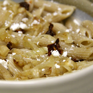 Goat Cheese and Caramelized Onion Pasta