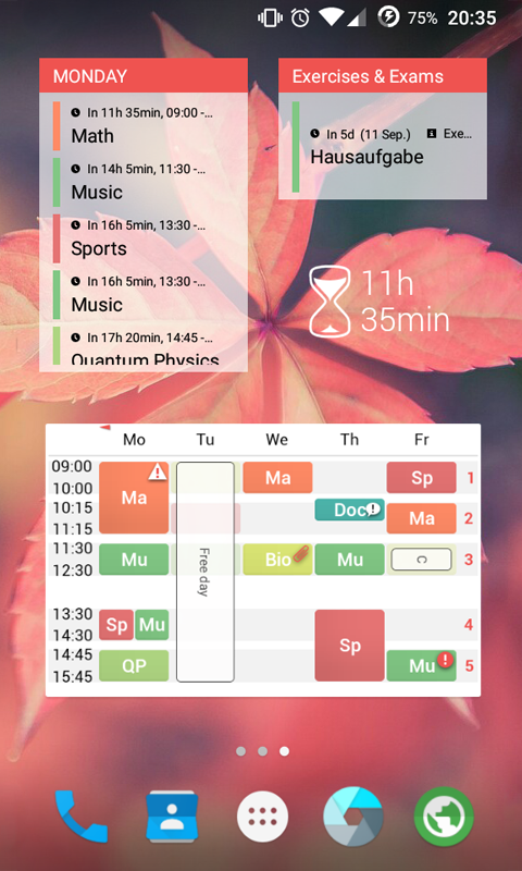 TimeTable++ Schedule Screenshot 2