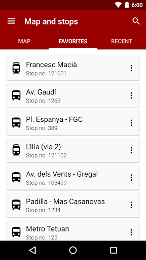 Next bus Barcelona - screenshot